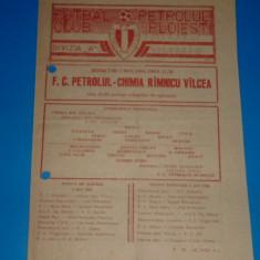 Program meci fotbal PETROLUL Ploiesti - CHIMIA Ramnicu Valcea 02.05.1984