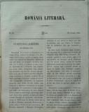 Revista Romania literara ; Director Vasile Alecsandri , nr. 32 , Iasi , 1855