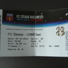 Bilet Meci Fotbal, STEAUA - CSMS IASI, 07.12.2014, Campionat