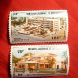 Serie Noua si vechea Primarie din Noumeea 1976 Noua Caledonie terit.francez ,2 val.