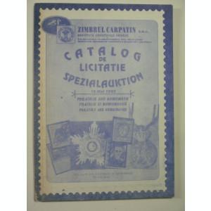 CATALOG DE LICITATIE FILATELIE SI NUMISMATICA - ZIMBRUL CARPATIN