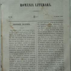 Revista Romania literara ; Director Vasile Alecsandri , nr. 30 , Iasi , 1855
