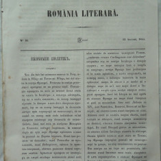 Revista Romania literara ; Director Vasile Alecsandri , nr. 31 , Iasi , 1855 , Bolintineanu