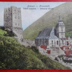 Carte postala - Brasov - Turn - circulata 1925 - Carte Postala Banat dupa 1918
