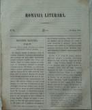 Revista Romania literara ; Director Vasile Alecsandri , nr. 28 , Iasi , 1855
