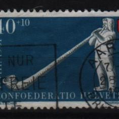 1951 elvetia mi. 559 stampilat - Timbre straine