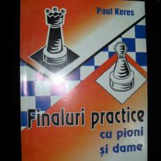Paul Keres, Finaluri practice cu pioni si dame - Carte sport
