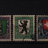 1925 elvetia mi. 214-215-217 stampilate