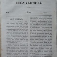 Revista Romania literara ; Director Vasile Alecsandri , nr.39 , Iasi , 1855 , texte editia 1 de Alecsandri , A. Russo