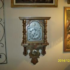 Ceas pendula perete JUNGHANS lemn sculptat perfect functional