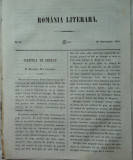 Romania literara , nr.41 , Iasi , 1855 , texte editia 1 de Alecsandri , A. Russo