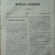 Revista Romania literara ; Director Vasile Alecsandri , nr.36 , Iasi , 1855 , texte editia 1 de Alecsandri