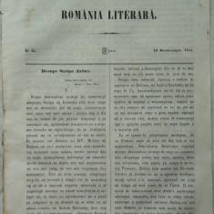 Revista Romania literara ; Director Vasile Alecsandri , nr.35 , Iasi , 1855 , texte editia 1 de Alecsandri , Odobescu