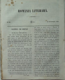 Revista Romania literara ; Director Vasile Alecsandri , nr.40 , Iasi , 1855 , texte editia 1 de Alecsandri , A. Russo , Bolintineanu