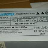Vand sursa 350W Unipower ATX350W CE P4, 4x molex, 20 pini mobo, 4pini CPU, 1x Floppy, vent 80mm