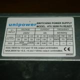 Vand sursa 300W Unipower ATX300W P4 , 4x molex, 20 pini mobo, 4pini CPU, 1x Floppy, vent 80mm