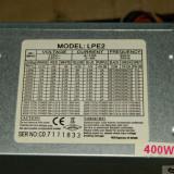 Vand sursa 400W LPE2  4x molex, 24 pini mobo, 4pini CPU, 1x Floppy, vent 80mm