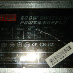 Vand sursa 400W Intex it1840ps 4x molex, 20 pini mobo, 4pini CPU, 1x Floppy, vent 80mm - Sursa PC, 400 Watt