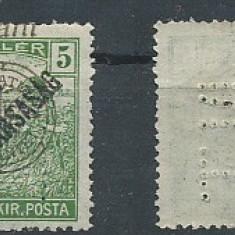 RFL 1919 ROMANIA Emisiunea Oradea 5B seceratori PERFINS N.T. MNH - Timbre Romania