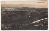 Zalau Zilah vedere a orasului de pe Meses ilustrata circulata in 1914