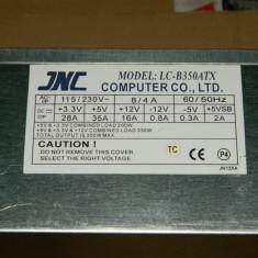 Vand sursa 350W JNC LC-B350ATX 4x molex, 20 pini mobo, 4pini CPU, 1x Floppy, vent 80mm - Sursa PC, 350 Watt