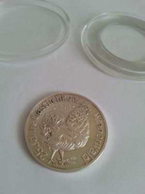 Moneda veche din argint 25 Jahre Gastlichkeit Wienerwald foto