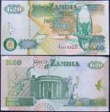 ZAMBIA 1992 - BANCNOTA 20 KWACHA (36UNC) - BC 10