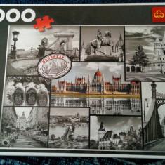 Puzzle Altele Trefl Budapesta 1000 piese, Carton, 2D (plan), Unisex