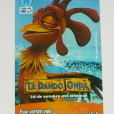 Cartela telefonica - DESENE - SURF'S UP - TA DANDO ONDA - BRAZILIA - 2+1 gratis toate produsele la pret fix - CHA1089 - Cartela telefonica straina
