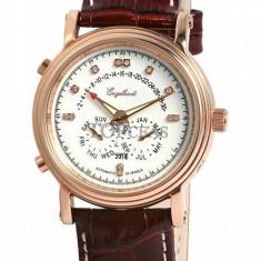 Ceas de lux Engelhardt Marcus Diamond Rose Gold White, original, nou, cu factura si garantie! - Ceas barbatesc Engelhardt, Lux - elegant, Mecanic-Automatic
