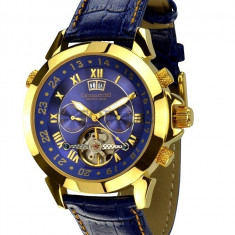 Ceas de lux Calvaneo 1583 Astonia Gold Blue, original, nou, cu factura si garantie! - Ceas barbatesc Calvaneo, Lux - elegant, Mecanic-Automatic