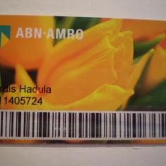 CARD BANCAR - ABN - AMRO BANK - PERSONALIZAT .