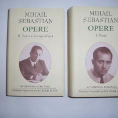 Mihail SEBASTIAN - OPERE I si II (editie de lux - 2011, ) - Carte de lux