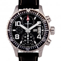 Ceas de lux Karl Breitner Aviator Steel Black, original, nou, cu factura si garantie! - Ceas barbatesc Aviator, Lux - elegant, Mecanic-Automatic, Otel