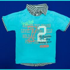 FRUMOS → Tricou cu efect de camasa, bumbac, C&A → baieti | 3—4 ani | 98—104 cm, Marime: Alta, Culoare: Bleu