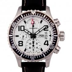 Ceas de lux Karl Breitner Aviator Steel Silver, original, nou, cu factura si garantie! - Ceas barbatesc Aviator, Lux - elegant, Mecanic-Automatic, Otel