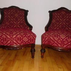 Set 2 frumoase fotolii vechi - secolul 19, (mobila, antichitati, fotoliu)