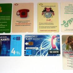 Set / Lot cartele telefonice - DIVERSE - TURCIA - 2+1 gratis toate produsele la pret fix - CHA1160 - Cartela telefonica straina