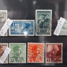 LNFR 1934+Caisorii 1932+Carol II fara posta 1934-timbre Romania stampilate-M-110