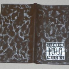 De colectie. vintage. carnetel cu COPERTA ELECTROMURES SI RECLAMA ELECTROMURES. tiraj 1000 exemplare. 1978 - Reclama Tiparita