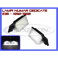 SET LAMPI DEDICATE BMW E36 - LAMPA PLACUTA NUMAR INMATRICULARE - 18 LED LEDURI SMD - CULOARE ALB XENON 6000K