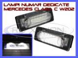 SET LAMPI DEDICATE MERCEDES CLASA C W202, CLASA E W210 - LAMPA PLACUTA NUMAR INMATRICULARE - 18 LED LEDURI SMD - CULOARE ALB XENON 6000K, ZDM