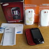 TELEFON MOBIL SAMSUNG GT-B5310 CORBYPRO DECODAT IN CUTIE + 2 CAPACE BATERIE - Telefon Samsung, Negru, Nu se aplica, Neblocat, Single SIM, Fara procesor