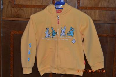 "Bluza de trening galbena ""Scooby Doo"" foto"
