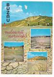 #carte postala(marca fixa) - BUZAU -Vulcanii noroiosi, Circulata, Printata