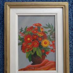 Tablou Pictura pe panza - Vaza cu flori - Dicu GG - 15x20
