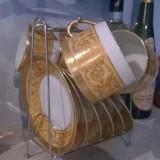 Serviciu de cafea/ceai din portelan aurit Paiva, de la Christofle, Seturi
