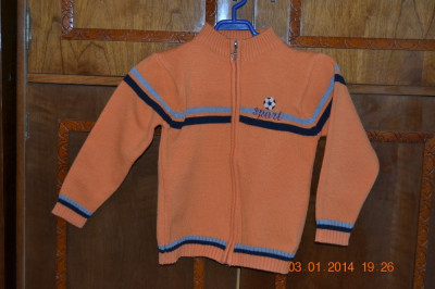 Pulover - jacheta portocaliu foto