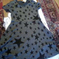 Rochite, rochie tricotata - Rochie tricotate, Culoare: Gri, Negru, Marime: 40, 42, Marime: 40, Midi, Scurta