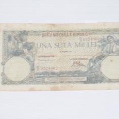 Bancnota una suta mii lei 21 Octombrie 1946 ~ C 0524662~